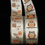 "1 1/2"" Owl Ribbon - Wire Edge"