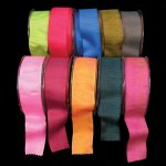 Shiny Taffeta Ribbon - Wire Edge