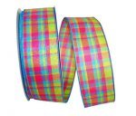 Plaid Glamour Ribbon - Wire Edge