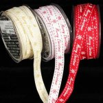 Merry Christmas Grosgrain Ribbon - Wired (43609-166)