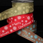 Merry Snowflake Ribbon - Wired (38046-166)