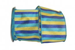 Cabana Multi Stripe Sheer - Wire Edge