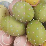 "3"" Easter Eggs with Dots - Set of 4 (B1004)"