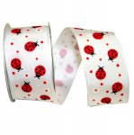 "1 1/2"" Lady Bug LuvRibbon Wire Edge"