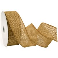 Morex Burlap Ribbon - Wired Edge