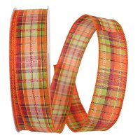 Field Plaid Stitch Ribbon Wire Edge