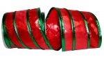"4"" Lame Piping Stripe Ribbon - WE (#92657W)"