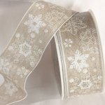 Linen Snowflake Ribbon WE (42633-116)