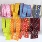 Color Dots Ribbon - Wire Edge