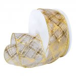 "2 1/2"" Sheer Plaid Ribbon Wired Edge (#7425-MO)"