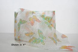 Glitzy Butterfly - Sheer Ribbon - Non-Wired (#0150)