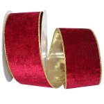 Wine Plush Velvet Gold Back Wire Edge