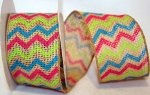 "2 1/2"" Burlap Chevron Multi - WE (#90813W)"