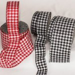 Sparkle Houndstooth Ribbon - Wire Edge