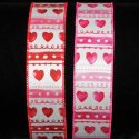 Vintage Hearts Ribbon Wire Edge