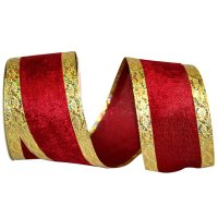 "2 1/2"" Velvet Dazzle Ribbon - Wire Edge"