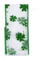 "1 1/2"" Sheer 4 Leaf Clover - WE"