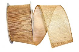 Mesh Burlap Metallic Ribbon - Wire Edge
