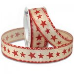 "1"" Morex Homespun Star Ribbon -WE (#653-MO)"