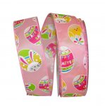 1 1/2' Easter Egg Fun Ribbon Wire Edge