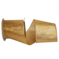 "4"" Tile Metallic Jute Ribbon - Wire Edge"