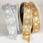 "1 1/2"" Wired Stars Ribbon - WE (53403-166)"