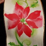 "2 1/2"" Poinsettia Ribbon - WE (#30762-156)"