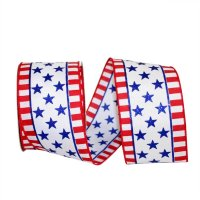 "2 1/2"" Star & Stripe Struck Ribbon - Wire Edge"