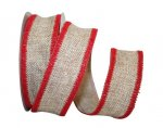 "OUT OF STOCK -1 1/2"" Stitched Edge Burlap - Wire Edge"