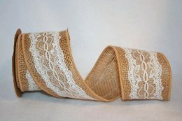 "2 1/2"" Scallop Lace Burlap - WE (#3235M)"