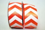 "1 3/8"" Chevron Aqua Satin Ribbon"