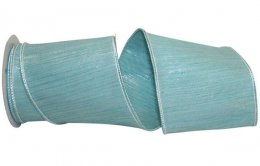 "4"" Aqua Mist Lux Ribbon - Wire Edge"