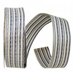 "1 1/2"" Vintage Stripes Ribbon - Wire Edge"