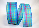 Breezeway Plaid Ribbon - Wire Edge
