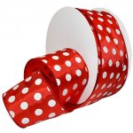 Holiday Dots Ribbon - Wire Edge