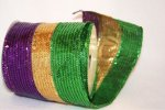 "4"" Sequin Mardi Gras Ribbon - WE (#090604W)"
