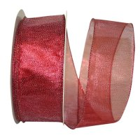 Lame Glimmer Semi Sheer Ribbon - Wire Edge