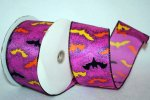 Halloween Ribbon - Bats Ville - WE (#90021W)