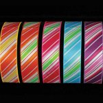 Diagonal Stripe Ribbon - Wired