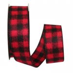 Buffalo Flannel Plaid Ribbon Wire Edge