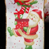 "2 1/2"" Santa Print Ribbon - WE(#30702-156)"