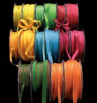 Narrow Taffeta Ribbon - Wire Edge