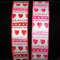 "1 1/2"" Vintage Hearts Ribbon - WE (#296-156-V)"