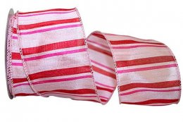 Striped Romance Ribbon - Wire Edge