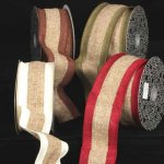 Wide Two Color Burlap Ribbon - WE (#286-156-AR)