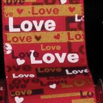 "1 1/2"" Taffeta Love Print WE (18191-159-S)"