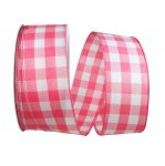 "2 1/2"" Celine Plaid Twill Ribbon - Wire Edge"