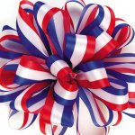 Offray Acetate Satin - Patriotic Tri-Color (#739-OF)