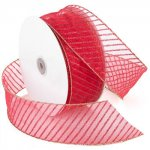 Morex Stripes Ribbon - Wire Edge