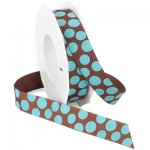 "7/8"" Morex Sugar Dots Grosgrain"